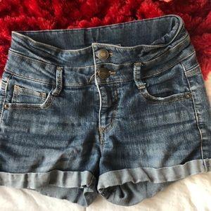 Cherokee High Waisted Jean Shorts